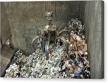 Rubbish At Refuse Facility Canvas Print