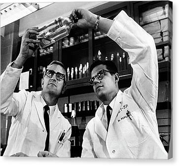 Rubella Vaccine Research Canvas Print by National Library Of Medicine