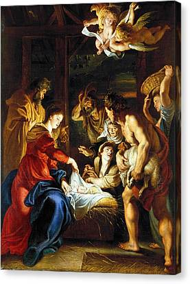 Manger Canvas Print - Rubens Adoration by Granger