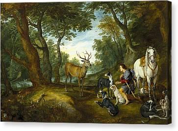 Rubens, Peter Paul 1577-1640 Breugel Canvas Print by Everett
