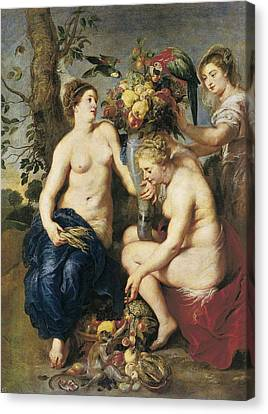 Rubens, Peter Paul 1577-1640. Ceres Canvas Print by Everett