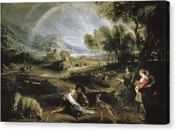 Cattle Dog Canvas Print - Rubens, Peter Paul 1577-1640. Landscape by Everett