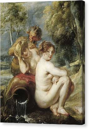 Rubens, Peter Paul 1577-1640. Nymphs Canvas Print by Everett