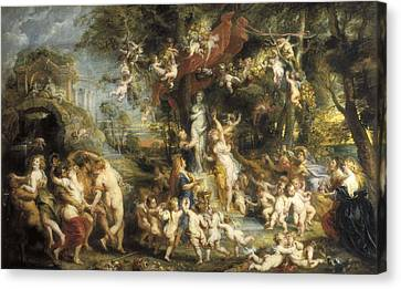 Rubens, Peter Paul 1577-1640. The Feast Canvas Print by Everett
