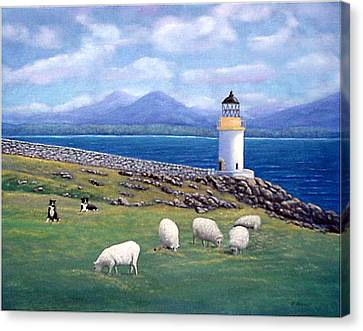 Rubh An Duin Lighthouse Scotland Canvas Print by Fran Brooks