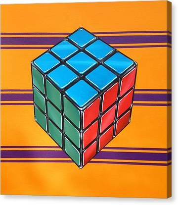 Hyperrealistic Canvas Print - Rubiks by Anthony Mezza