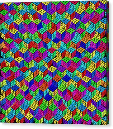 Rubik's Cube Abstract Canvas Print by Tony Rubino