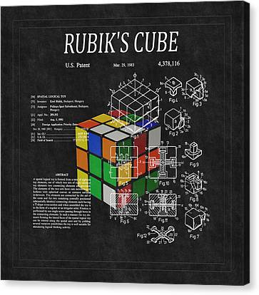 Rubik's Cube Patent 3 Canvas Print by Andrew Fare