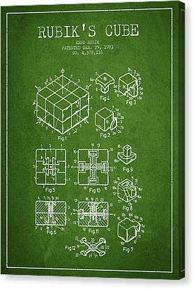 Rubiks Cube Patent From 1983 Canvas Print by Aged Pixel