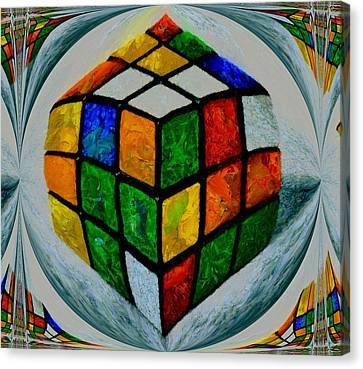 Rubiks Canvas Print by Dan Sproul
