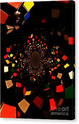 Rubik's Explosion Canvas Print by Scott Allison