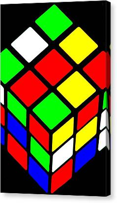 Rubik's Phone Canvas Print by Benjamin Yeager