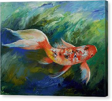 Ruby And Sapphire Canvas Print by Michael Creese