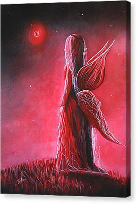 Ruby Fairy By Shawna Erback Canvas Print by Shawna Erback