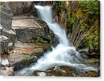 Ruby Falls Mount Rainier National Park Canvas Print by Bob Noble Photography