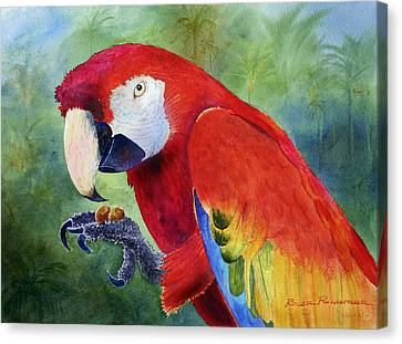 Ruby Having Lunch Canvas Print by Roger Rockefeller
