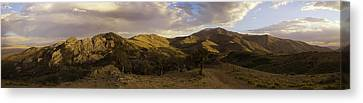 Canvas Print featuring the photograph Ruby Mountain Panorama by Jim Snyder