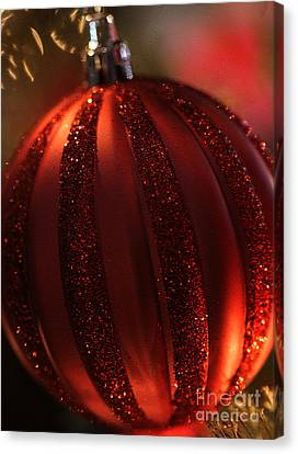 Ruby Red Christmas Canvas Print by Linda Shafer