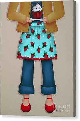 Ruby's Red Shoes Canvas Print by Catherine Holman