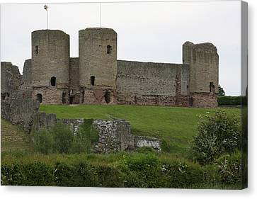 Canvas Print featuring the photograph Ruddlan Castle 2 by Christopher Rowlands