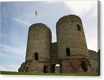 Canvas Print featuring the photograph Ruddlan Castle by Christopher Rowlands