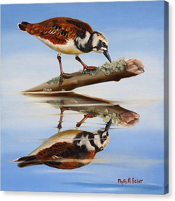 Canvas Print featuring the painting Ruddy Reflection by Phyllis Beiser