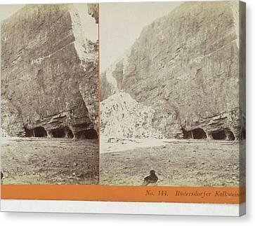 Rudersdorfer Limestone Quarry, Germany, Johann Friedrich Canvas Print