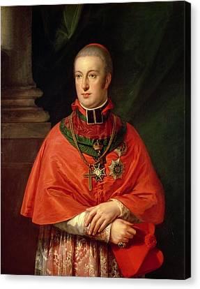 Cope Canvas Print - Rudolf Of Habsburg, Archduke Of Austria 1788-1831, Youngest Son Of Leopold II 1747-93, In Cardinals by Johann Baptist Edler von Lampi