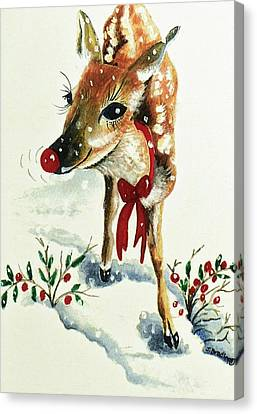 Rudolph Canvas Print by Joy Bradley