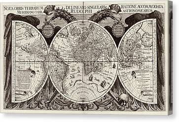 Rudolphine Tables World Map Canvas Print