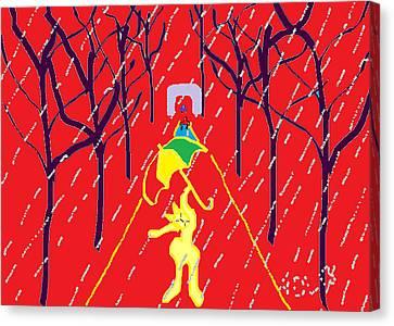 Rue De Pluie Canvas Print by Anita Dale Livaditis