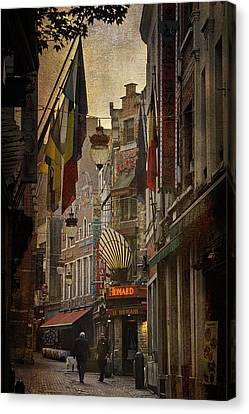 Bruxelles Canvas Print - Rue Des Bouchers by Joan Carroll
