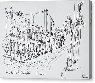 Rue Du Petit Champlain, Vieux Quebec Canvas Print