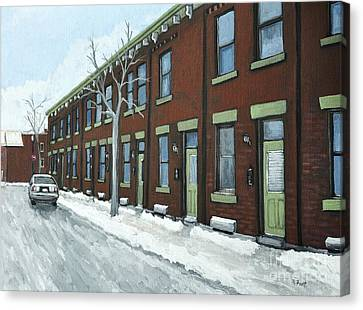 Rue Grand Trunk Pointe St. Charles Canvas Print by Reb Frost