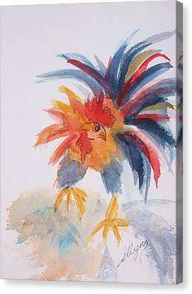 Cockscomb Canvas Print - Ruffled Rooster by Ellen Levinson