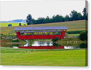 Ruffner Covered Bridge Canvas Print by Jack R Perry