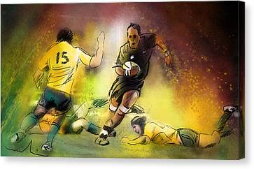 Rugby 01 Canvas Print by Miki De Goodaboom