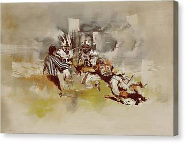 Rugby Canvas Print by Corporate Art Task Force