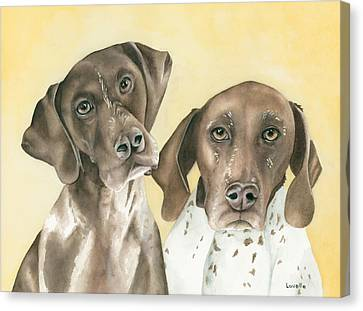 Ruger And Daisey   Canvas Print by Kimberly Lavelle