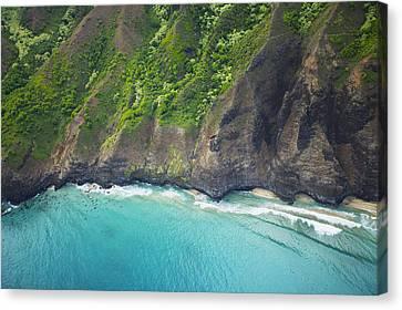 Rugged Na Pali Coast Canvas Print by Kicka Witte