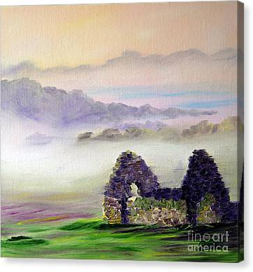 Ruin Above The Mist Canvas Print