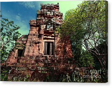 Ruin At Angkor Canvas Print by Julian Cook