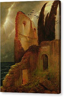 Ruin By The Sea, 1881 Canvas Print by Arnold Bocklin
