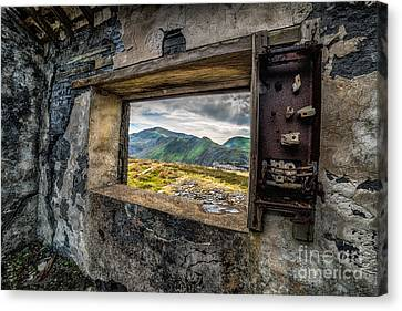 Abandoned Canvas Print - Ruin With A View  by Adrian Evans