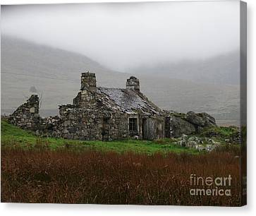 Ruined Cottage Snowdonia Canvas Print by Nicola Butt