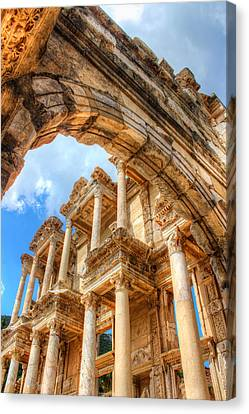 Ruined Library In Ephesus  Canvas Print