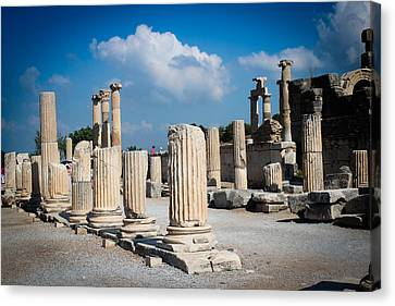 Ruined Marble Columns In Turkey Canvas Print