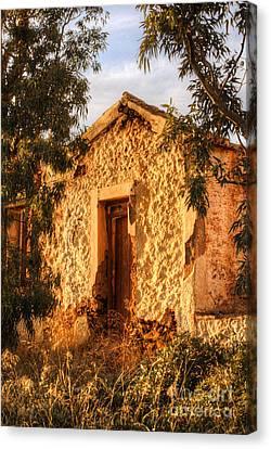 Ruined Sounion House 8 Canvas Print by Deborah Smolinske