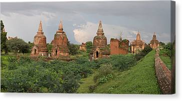 Ruined Stupas Near Village Of Min Nan Canvas Print by Panoramic Images