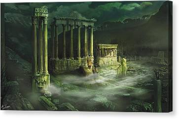 Ruined Temple Canvas Print by Anthony Christou